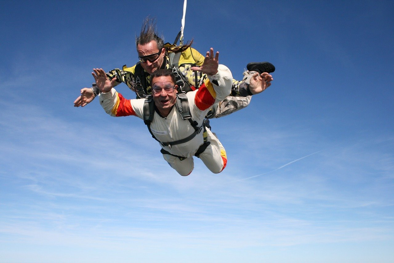 Tandem Jumpers in Freefall